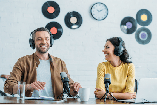 Interviews entre collaborateur pour un podcast